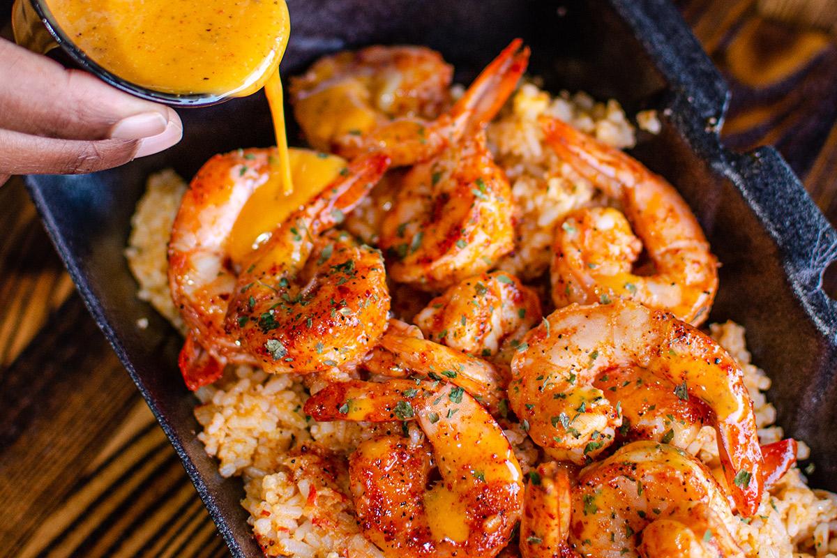 crack sauce smothered shrimp